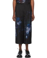 Lad Musician - Black 2tuck Cropped Trousers - Lyst