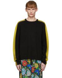 JOSEPH - Black Raglan Sports Sweater - Lyst