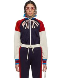 Gucci - Blue Fy Yourself Bow Logo Track Jacket - Lyst
