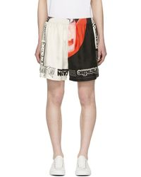 Stella McCartney - Multicolor Gray Silk Venus Print Shorts - Lyst