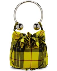 Ashley Williams - Yellow Tartan Lewis Piercing Bag - Lyst