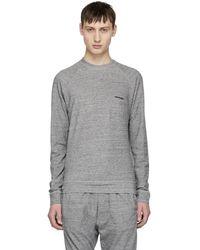 DSquared² - Grey Long Sleeve Soft Logo T-shirt - Lyst