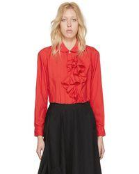 Comme des Garçons - Red Crinkled Ruffle Shirt - Lyst