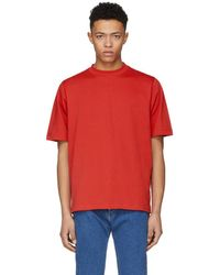 Helmut Lang - Red Tall Military T-shirt - Lyst