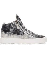 2e029dca80ccf Giuseppe Zanotti Moc Croc Hitop Sneakers in Metallic for Men - Lyst