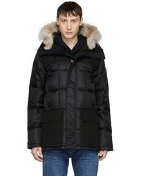 Canada Goose - Black Black Label Down And Fur Callaghan Parka - Lyst