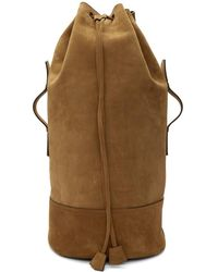 AMI - Brown Military Backpack - Lyst