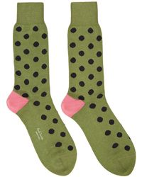 Paul Smith - Blue And Green Spot Socks - Lyst