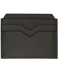 Valextra - Grey Leather Card Holder - Lyst