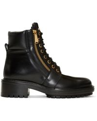 Balmain - Black Army Ranger Zip Boots - Lyst