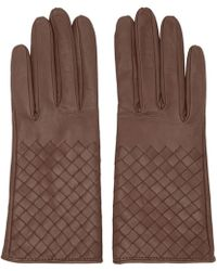 Bottega Veneta - Pink Intrecciato Short Gloves - Lyst