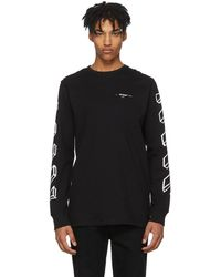Off-White c/o Virgil Abloh - Black And White Long Sleeve Diagonal Marker Arrows T-shirt - Lyst