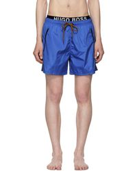 BOSS - Blue And Orange Thornfish Swim Shorts - Lyst