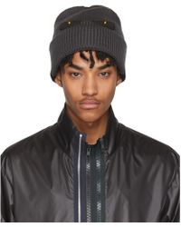Fendi | Grey And Black Bag Bugs Beanie | Lyst