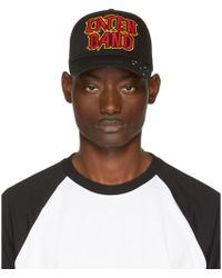 DSquared² - Black 'caten Band' Baseball Cap - Lyst