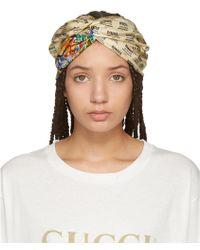 Gucci | Ivory Logo Stamp Headband | Lyst