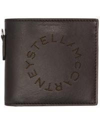 Stella McCartney - Black Perforated Logo Bifold Wallet - Lyst
