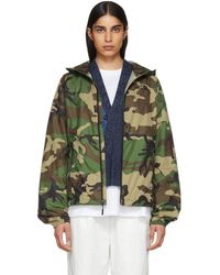 The North Face - Green Camouflage Flyweight Hoodie Jacket - Lyst