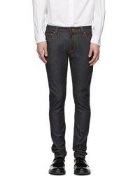 Nudie Jeans - Blue Skinny Lin Jeans - Lyst