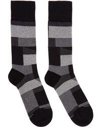 BOSS - Black Rs Block Pattern Socks - Lyst
