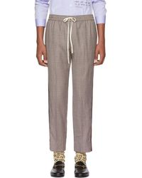 Gucci - Multicolor Houndstooth Trousers - Lyst