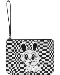 McQ - Black And White Medium Pouch - Lyst