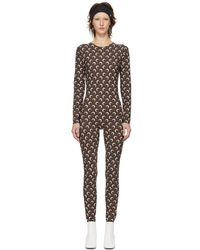 Marine Serre - Brown All Over Moon Catsuit - Lyst