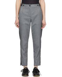 Rag & Bone - Grey And Blue Check Meki Stripe Trousers - Lyst