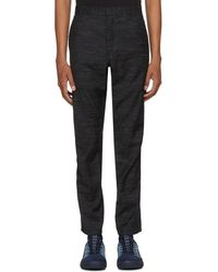 Lanvin - Black Wool Biker Trousers - Lyst