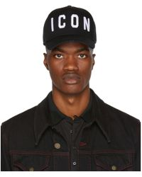 DSquared² - Black Icon Cap - Lyst
