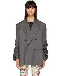Junya Watanabe - Grey Oversized Blazer - Lyst