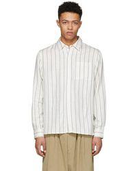 Saturdays NYC - Ivory Mickey Stripe Shirt - Lyst
