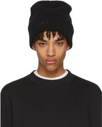 Alexander Wang - Black Classic Black Overwashed Beanie - Lyst
