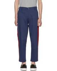 Dickies Construct - Blue Slim Stripe Trousers - Lyst