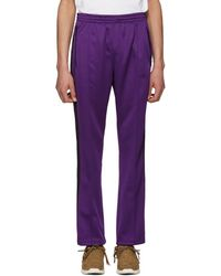 Needles - Purple Narrow Track Trousers - Lyst