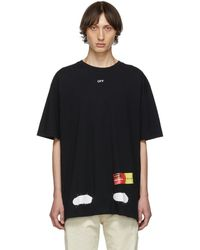 Off-White c/o Virgil Abloh - T-shirt noir Incomplete Spray Paint exclusif a SSENSE - Lyst