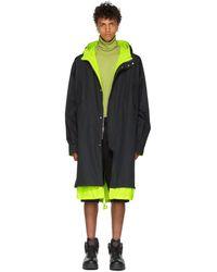 Juun.J - Reversible Black And Green Coat - Lyst