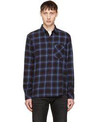 Nudie Jeans - Indigo Sten Block Check Shirt - Lyst