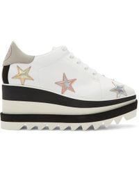 Stella McCartney - White Elyse Stars Platform Derbys - Lyst