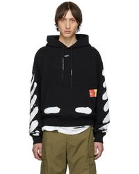 Off-White c/o Virgil Abloh Ssense Exclusive Black Incomplete Spray Paint Hoodie