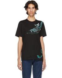 Givenchy - Black Dragon Capricorn T-shirt - Lyst