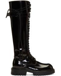 Ann Demeulemeester - Ssense Exclusive Black Patent Abrasivato Boots - Lyst