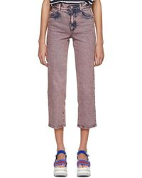 Stella McCartney - Pink Washed Cropped Jeans - Lyst
