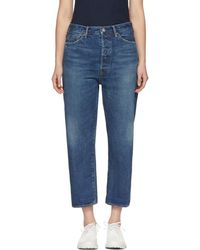 Chimala - Blue Wide Tapered Selvedge Denim Jeans - Lyst