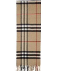 Burberry - Beige Cashmere Giant Icon Scarf - Lyst