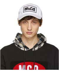 McQ - White Embroidered Metal Logo Cap - Lyst