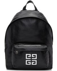 Givenchy - Black Leather 4g Backpack - Lyst