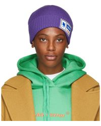 ADER error - Purple Tetris Label Beanie - Lyst