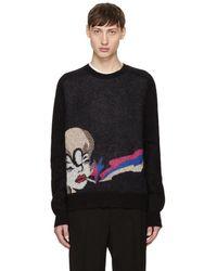 Saint Laurent - Black Smoking Lady Sweater - Lyst