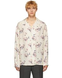 KENZO - Beige Cheongsam Shirt - Lyst